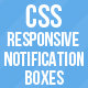CSS Responsive Notification Boxes - CodeCanyon Item for Sale