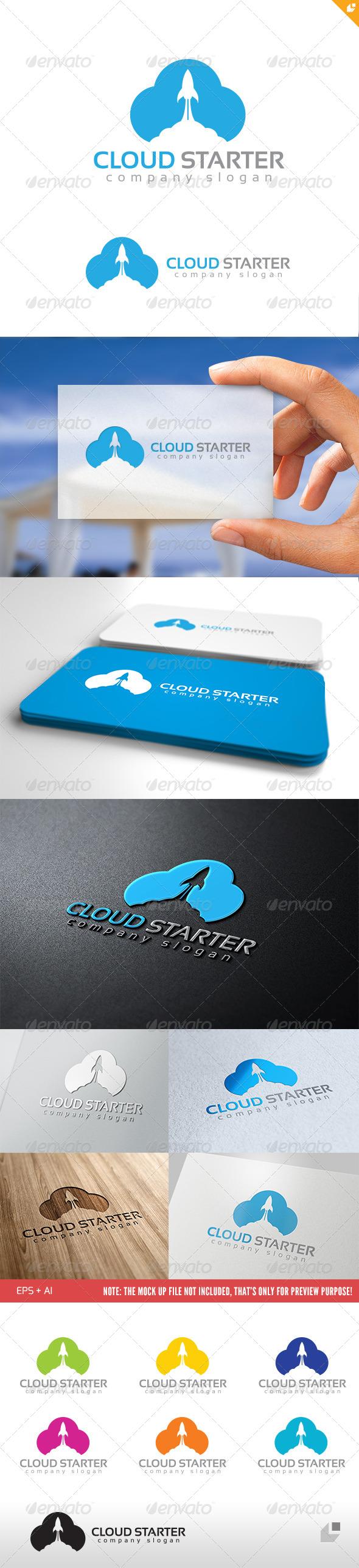 GraphicRiver Cloud Starter Logo 4702377