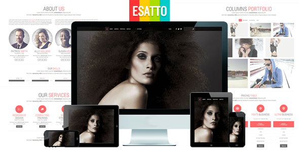 ThemeForest Esatto One Page Responsive Bootstrap Template 4697425