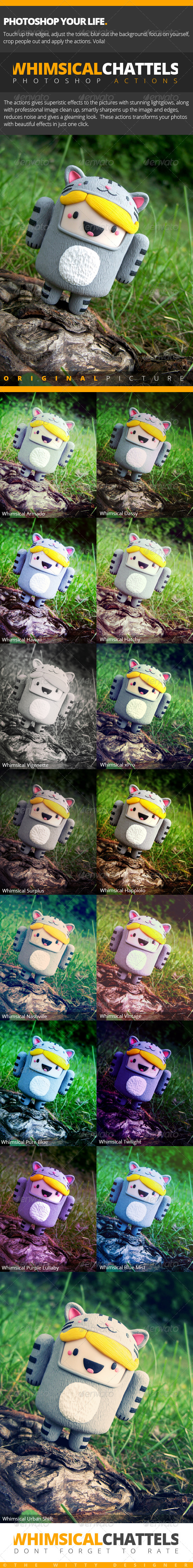 GraphicRiver Whimsical Chattels 15 Photoshop Actions 4703522