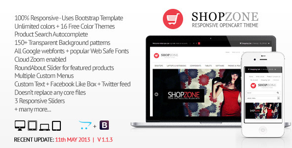 Shopzone - Responsive Opencart Theme - OpenCart eCommerce