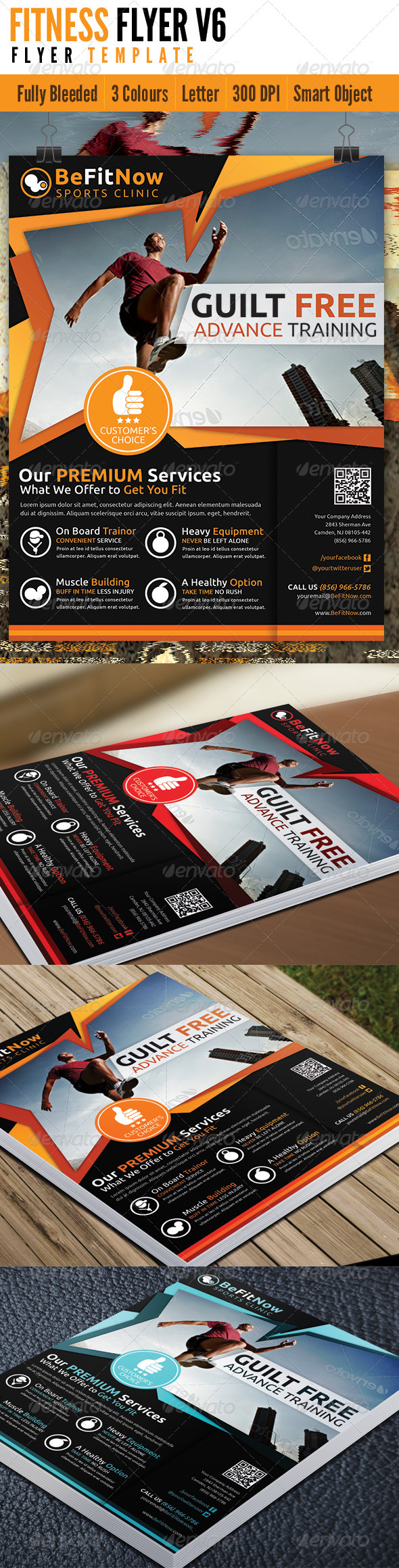 GraphicRiver Fitness Flyer V6 4629423