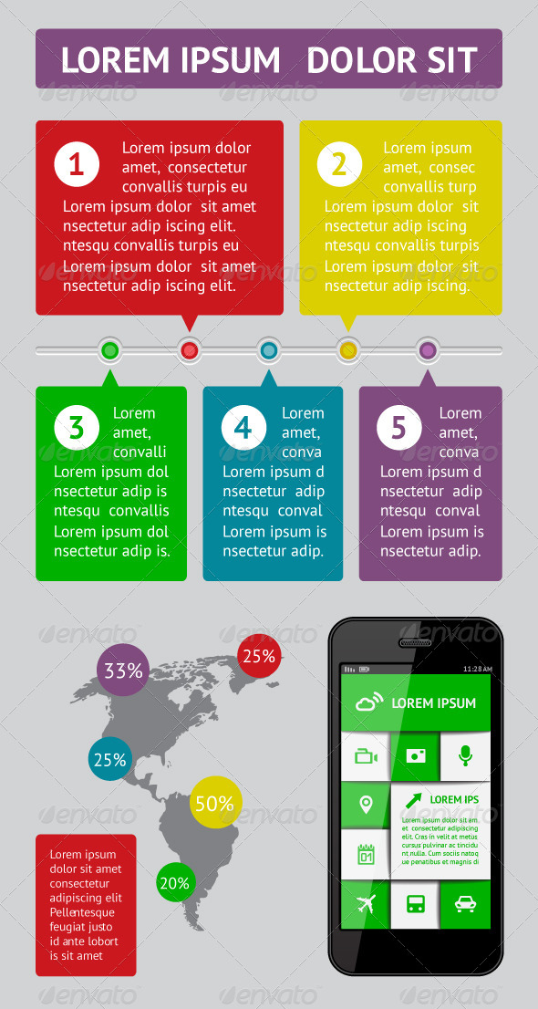 GraphicRiver Infographics and Web Elements 4705063