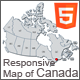 Responsive Map of Canada - HTML5 - CodeCanyon Item for Sale