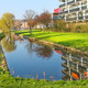Pond in the spring park in Gorinchem. Netherlands - PhotoDune Item for Sale