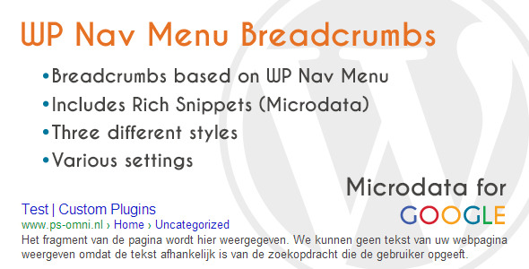 WP Nav Menu Breadcrumbs - CodeCanyon Item for Sale