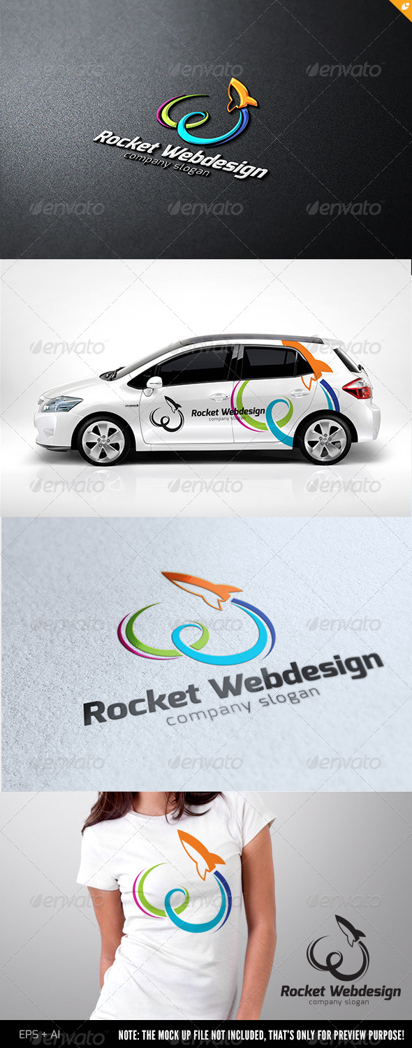 GraphicRiver Rocket Web Design Logo 4707242