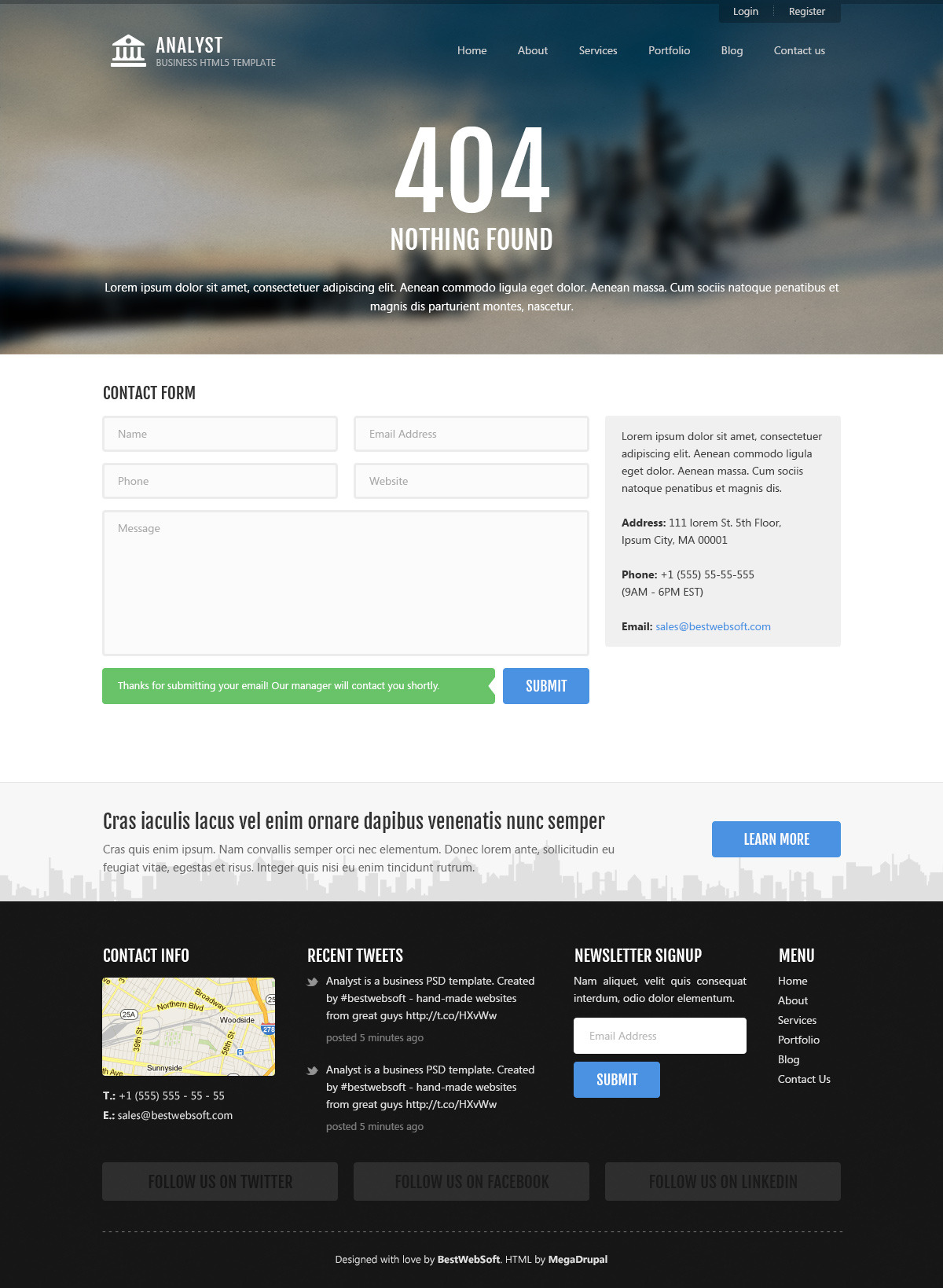 Analyst - Business & Agency HTML5 Template