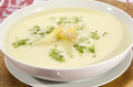asparagus cream soup in a white bowl - PhotoDune Item for Sale