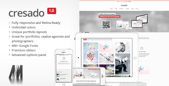 Cresado WP - Responsive Theme for Creatives - Portfolio Creative