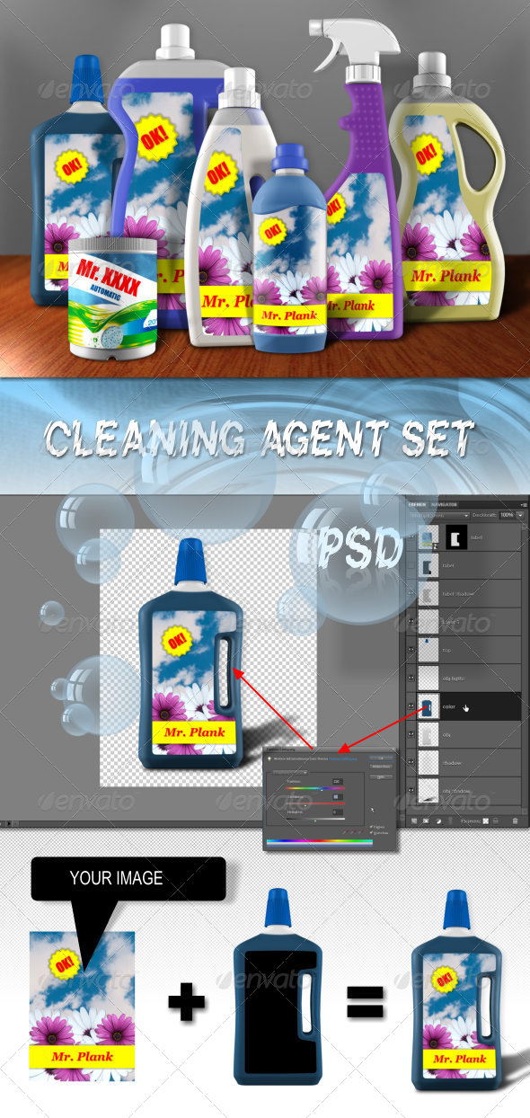 GraphicRiver Cleansing Agent Mock-Up Set 4632002
