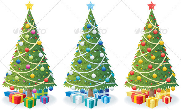 Christmas Tree and Gifts - Christmas Seasons/Holidays