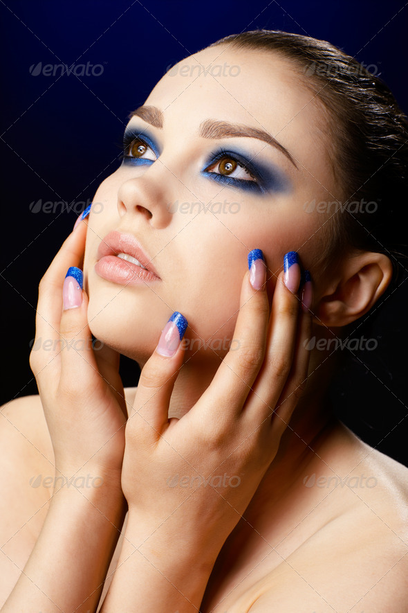 beautiful brunette - Stock Photo - Images