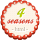 4 Seasons – Restaurant & Cafe HTML5/CSS3 Template  Free Download