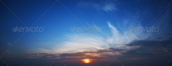 Sunset panorama  - Stock Photo - Images