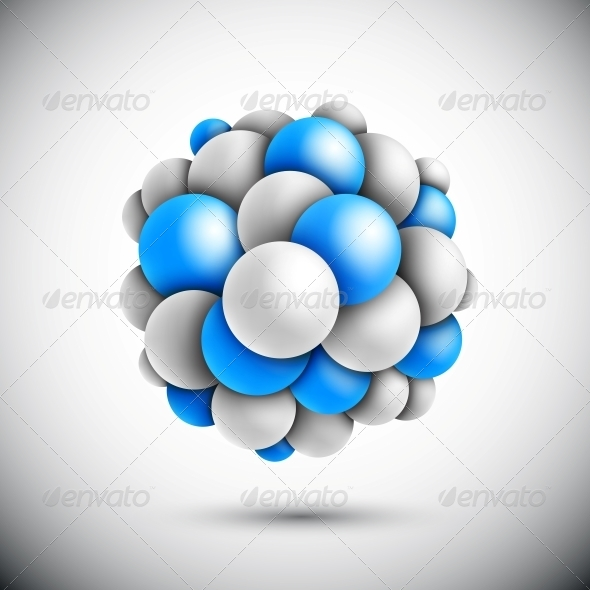 GraphicRiver Sphere in Form of the Molecule 4709678