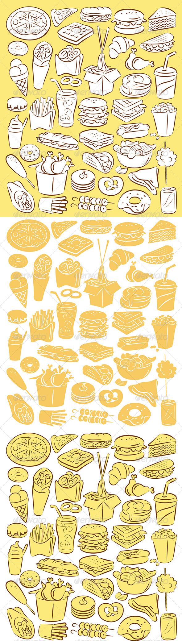 GraphicRiver Fast Food Vector 4710057