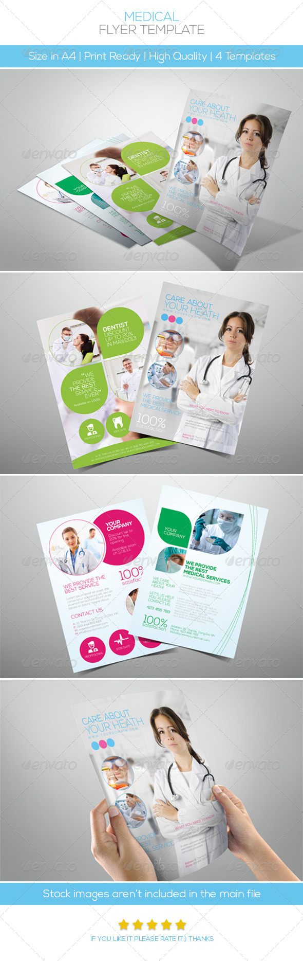 GraphicRiver Premium Medical Flyers 4710502