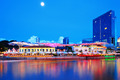 Singapore city and river by night - PhotoDune Item for Sale