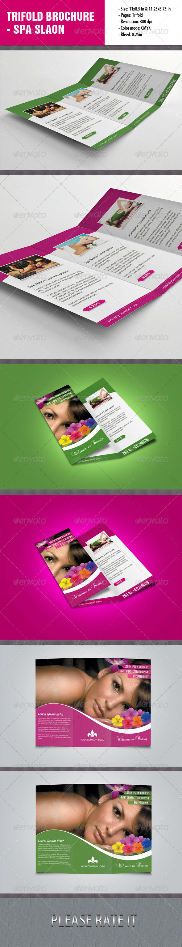 GraphicRiver Trifold Brochure For Spa Salon 4711694