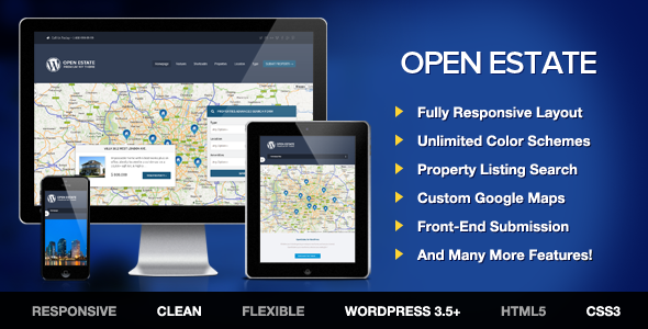 ThemeForest OpenEstate Responsive Real Estate Wordpress Theme 4711764