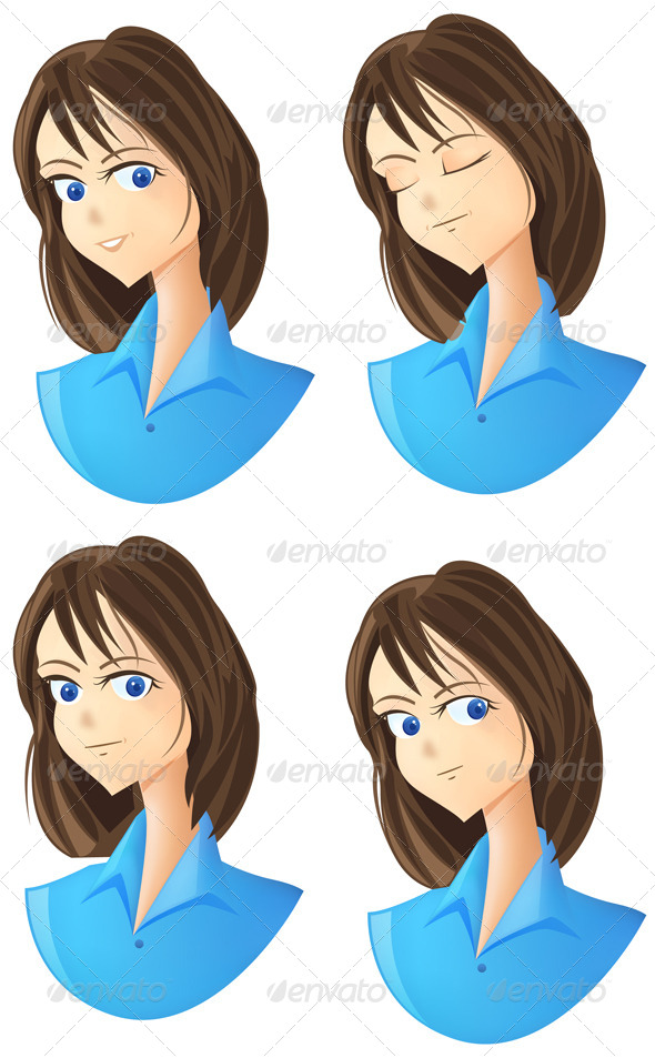 GraphicRiver Character Expression Icon Set 4712248