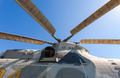 Propeller of helicopter against blue sky - PhotoDune Item for Sale