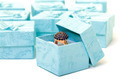 Cyan gift boxes with ring - PhotoDune Item for Sale