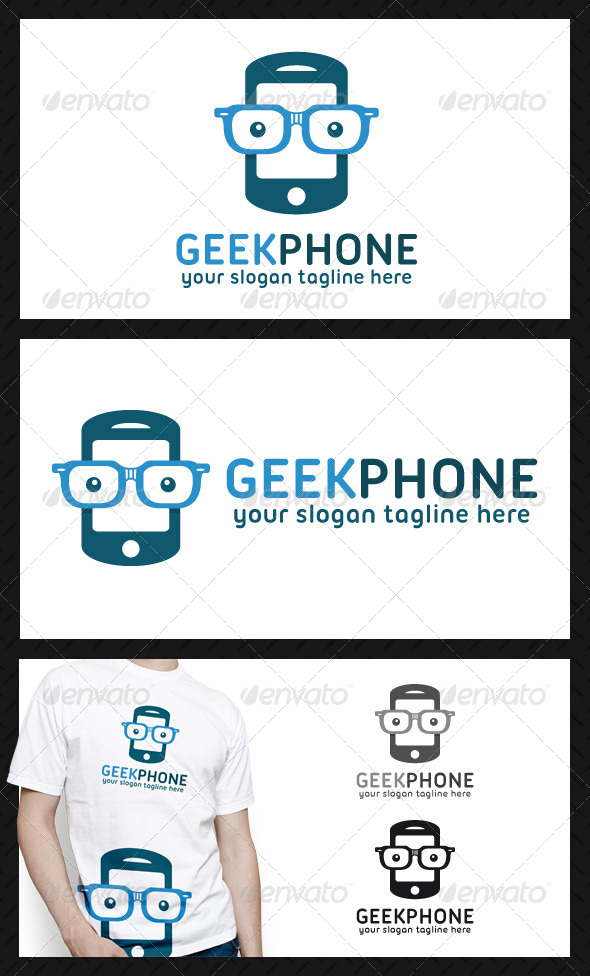 GraphicRiver Geek Phone Logo Template 4712973
