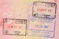 Stamp of cyprus visa in russian passport - PhotoDune Item for Sale
