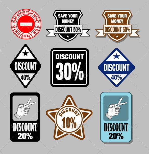 GraphicRiver Discount Labels 4713751