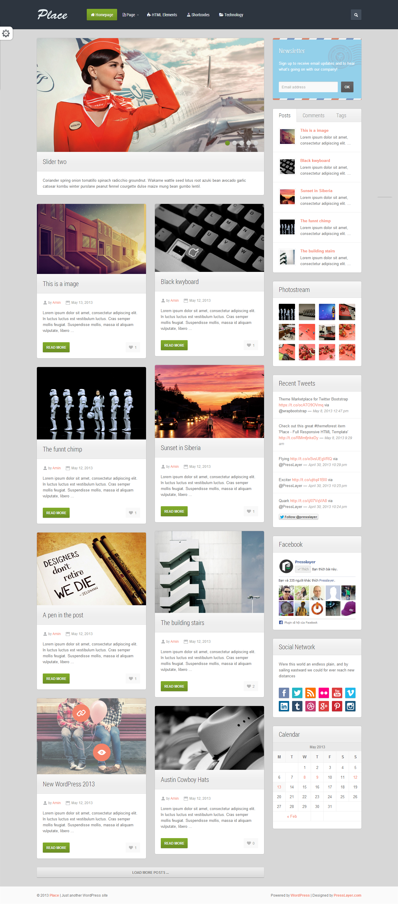 Place - Responsive Blogging WordPress Theme - 02_Homepage.png Screenshot of homepage