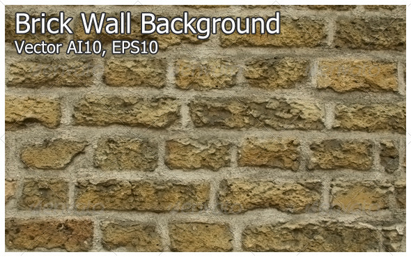 Brick Wall Background (Vector) - Backgrounds Decorative
