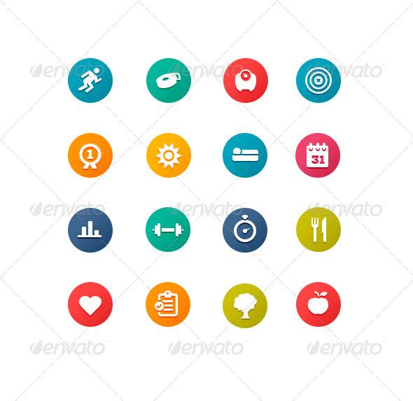 GraphicRiver Fitness Symbols 4715344