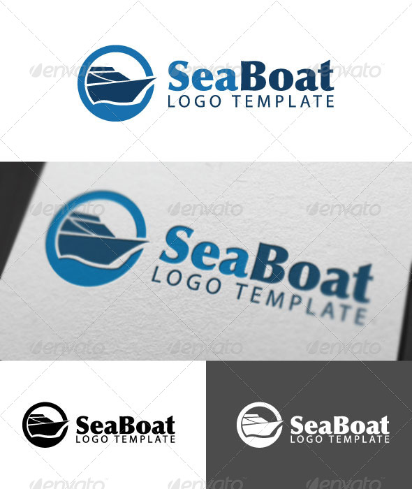 GraphicRiver Sea Boat Logo Template 4715547