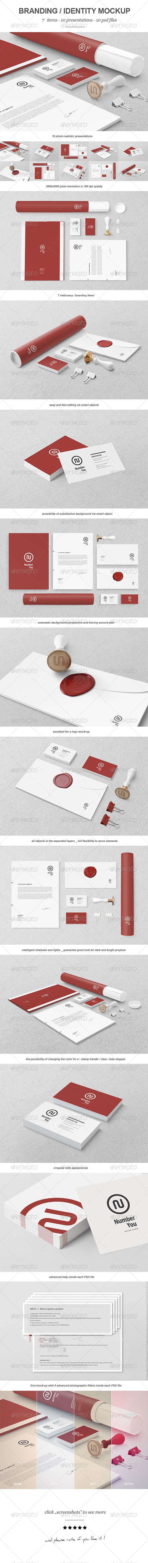 Branding / Identity Mock-up III - Print Product Mock-Ups