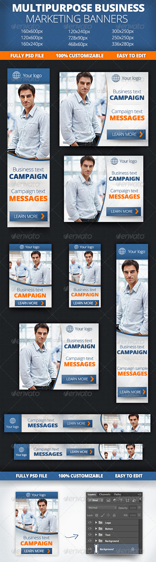 GraphicRiver Multipurpose Business Marketing Banners 4716311
