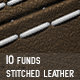 10 Funds Stitched Leather Backgrounds - GraphicRiver Item for Sale