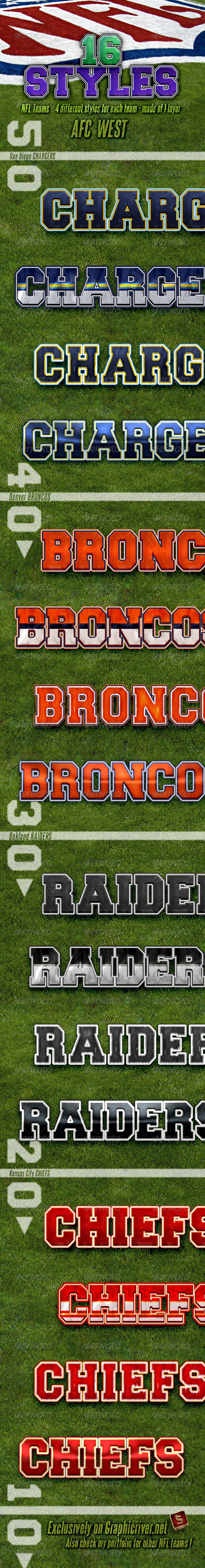 GraphicRiver NFL Football Styles AFC West 4717011