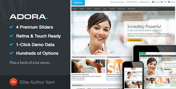 ThemeForest Adora Responsive Multi-Purpose Theme 4659383