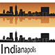 Indianapolis Skyline in Orange Background - GraphicRiver Item for Sale