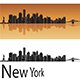 New York Skyline in Orange Background - GraphicRiver Item for Sale