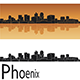 Phoenix Skyline in Orange Background - GraphicRiver Item for Sale