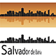 Salvador de Bahia Skyline in Orange Background - GraphicRiver Item for Sale