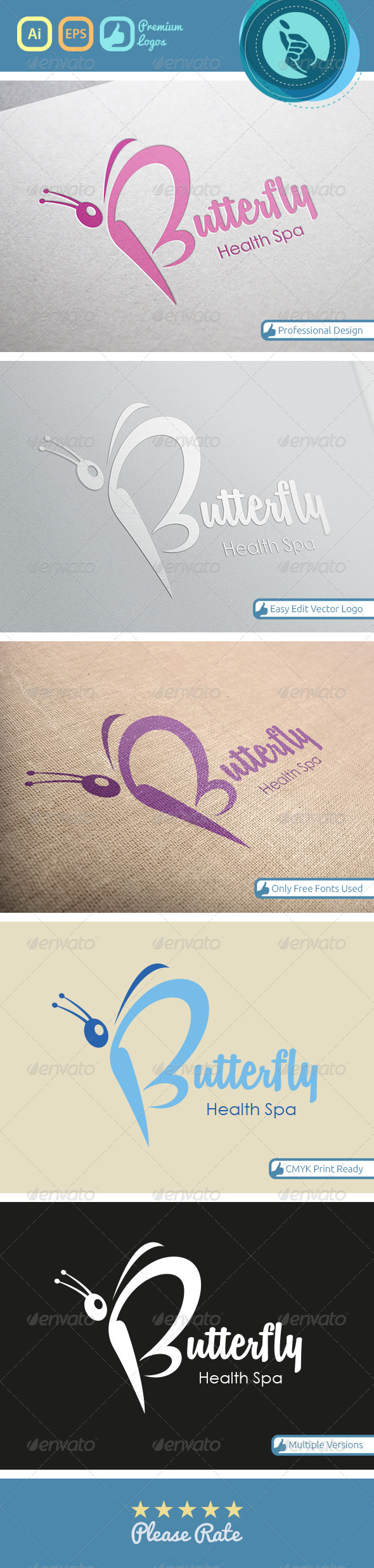 GraphicRiver Butterfly Health Spa 4718082