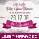 Wedding Announcement - Just Married