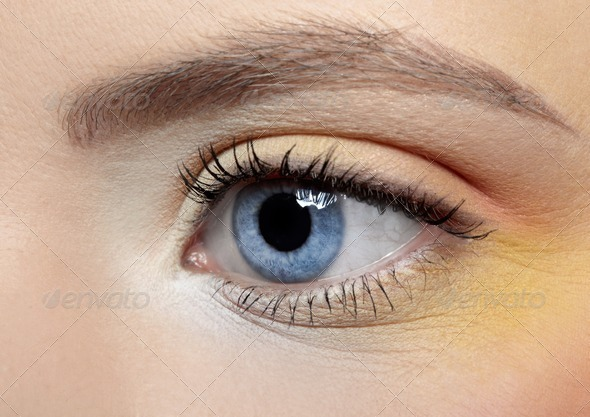 girl's eye zone make-up - Stock Photo - Images