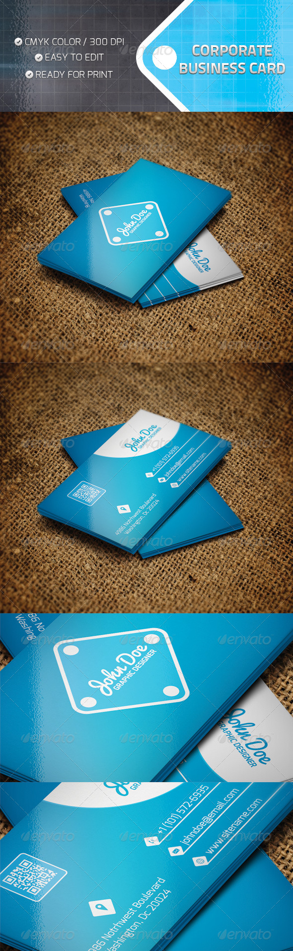 GraphicRiver Corporate Business Card 4718244