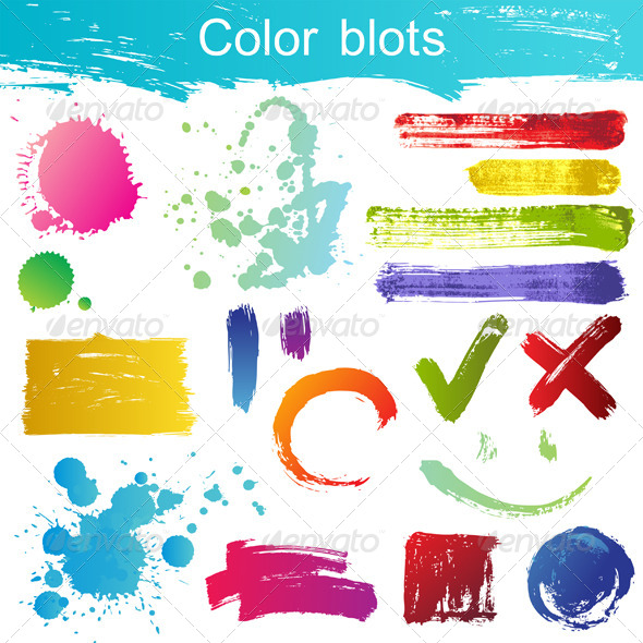 GraphicRiver Color Blots 4718494