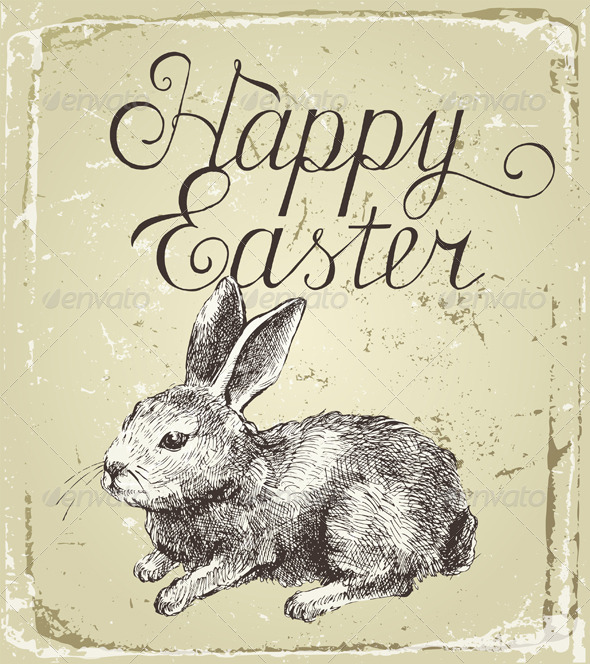 GraphicRiver Easter Card 4718502